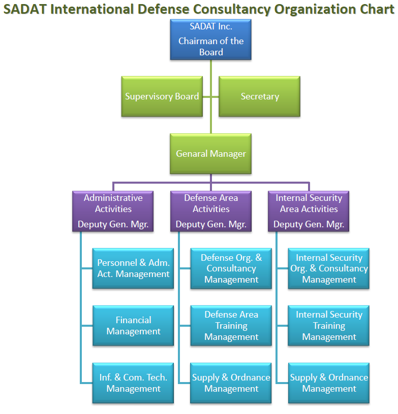 SADAT International Defense Consultancy Organization Chart